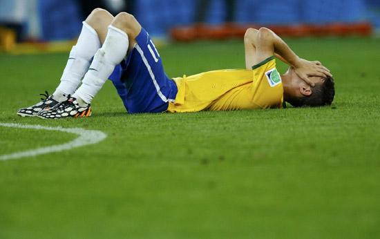 2014世界杯德国对巴西7 1 巴西惨败图片