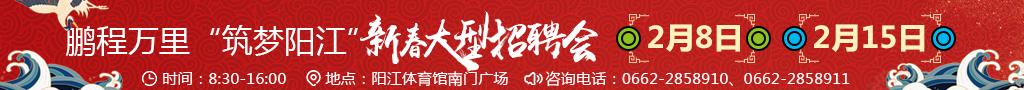 """鹏程万里""""筑梦阳江""""新春大型招聘会"""