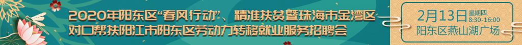 """2020年阳东区""""春风行动""""、精准扶贫暨珠海市金湾区对口帮扶阳江市阳东区劳动力转移就业服务招聘会"""